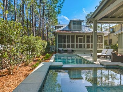 Photo for New Listing! Lavish Home w/ Private Pool, Spa, Outdoor Lounge, Walk to Beach