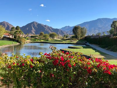 Photo for La Quinta,beautiful 4 bedroom w/2 bed casita , pool on golf course. Views!