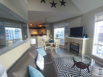 Photo for Vaulted Ceilings with Floor to ceiling windows! Year round pool for winter days!