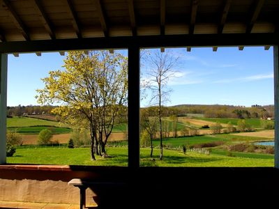 Photo for Surrounded by orchards, restored farmhouse. Beautiful view. Calm. Swimming Pool.