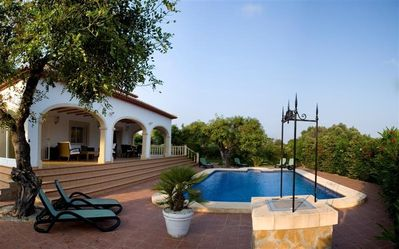 Photo for Stunning 3 bedroom villa with pool and WIFI in Javea, sleeping 8