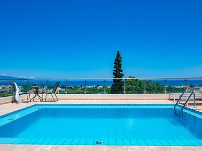 Photo for Stratianna View Villa with 4 bedrooms and a private pool, 1200 meters from beach