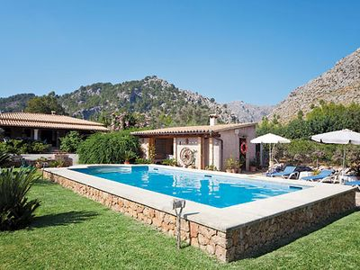 Photo for Modern Majorcan villa w/ Roman-style pool + BBQ house, close to village
