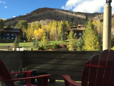 View From 2nd Floor Master Deck-- That's Park City ski resort:)