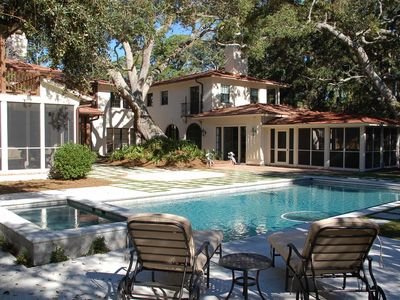 Photo for Stunning Beach Side Cottage with 6 BR/7.5 Ba in Prime Sea Island Locale