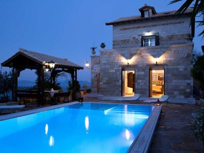 Photo for -10%:Luxury traditional stone-built villa,in total privacy with great view