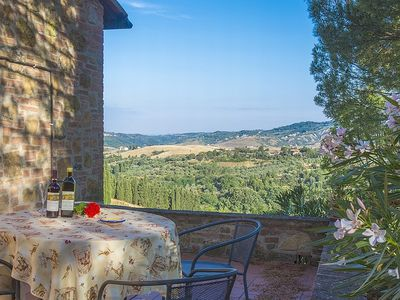 Photo for Beautiful holiday home for 2-3 persons on a picturesque country estate, magnificent views, large swimming pool. Breakfast/half-board on request.
