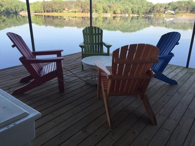 Photo for Cute cottage on Lake Lanier with dock and screened porch. NEW to rental market.