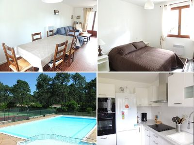 Photo for Semi detached house, 3 bedrooms for 6 people, residence with pool and tennis courts, Lacanau Ocean