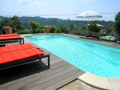 Photo for Nice apartment for 4 guests with pool and balcony