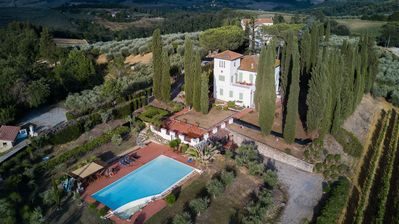 Photo for VILLA DEL PINO, a liberty dwelling in the Chianti area with a view of San Gimignano