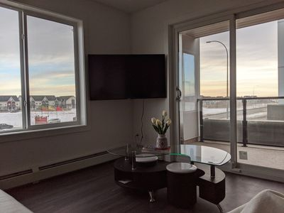 Photo for Airport Retreat YYC✈️ 2BR+2Bath+Heated Parking❤️Cleaned with disinfectant