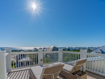 Photo for Paradise30A~The White Pearl, Gulf Views! Golf Cart & Private heated pool included (Spring only)