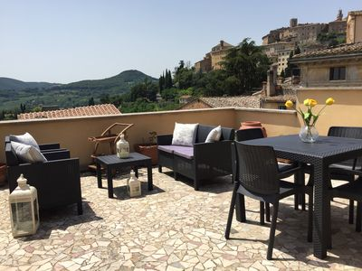 Photo for Bright and Tranquil 2 BR Apartment with Terrace in Montepulciano's Historic Area