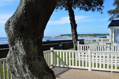 The decking view facing right to The Quay