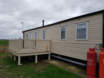 Photo for 8 berth (3 bed caravan) centrally heated and double glazed
