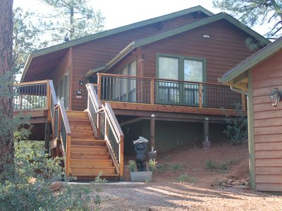 Photo for Gorgeous views, whispering pines, cool breezes await!
