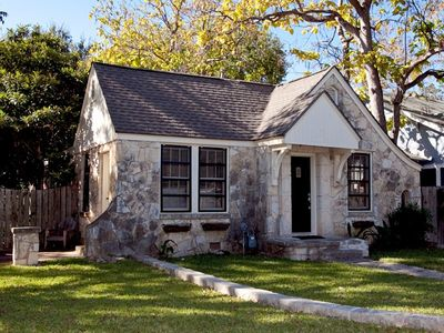 Photo for Cheery Stone Cottage at UT and Downtown with Backyard Living Spaces