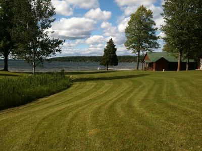 Photo for Mullett Lake Private Frontage/Beautiful Sunsets, Campfires, Wireless