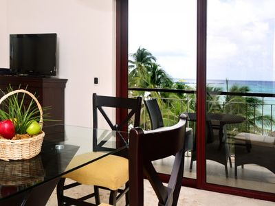 Photo for Luxurious 1 bedroom 2-bathroom beachfront condo (EFS307)
