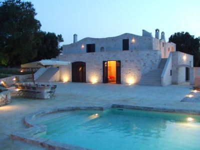 Photo for Luxury olive mill with heated pool, sea views within walking distance of Ostuni