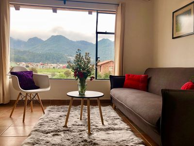 Photo for Cozy apartment with an amazing view of the mountains