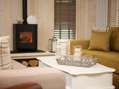 Photo for The Shore, Coldingham, luxury lodge with hot tub, Coldingham, Scottish Borders