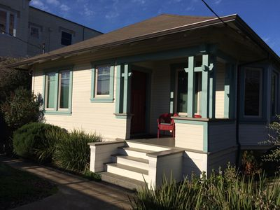 Sunny Front Porch Entry to Craftsman Style Cottage
