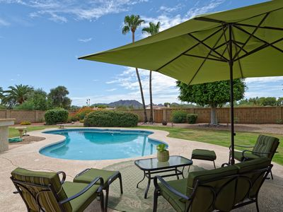 Photo for Fabulous Location w/Mountain Views Solar Heated Pool & Resort Like Private Oasis
