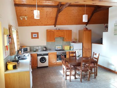 The spacious, sunny and bright kitchen is very well equipped with all you need