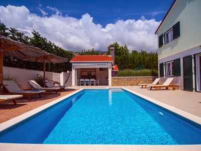 Photo for VILLA STOZAK, private heated pool, cinema room and sauna, 7 km from beach