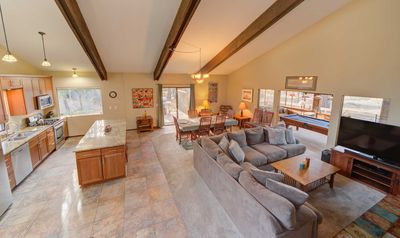 Photo for A large, pet friendly, lodge style home that's perfect for family reunions!