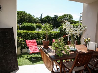 Photo for Beautiful 2 rooms 50 m2 air-conditioned swimming pool at 50 m from the beach and port at Lido