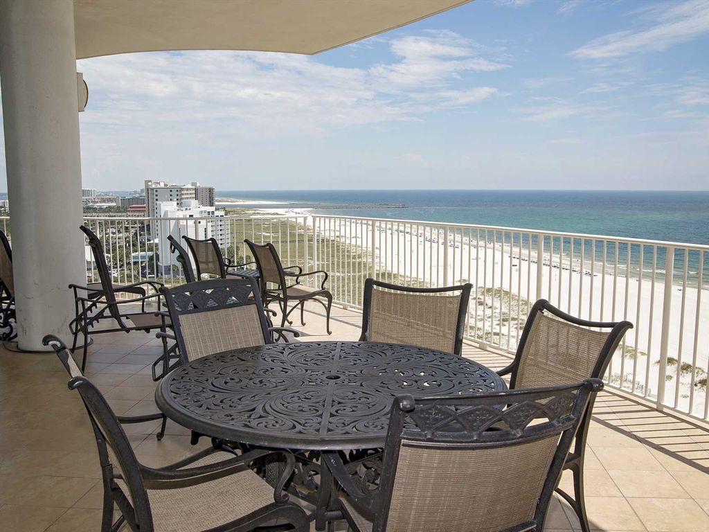 Corner condo all tile gulf front sleeps 14 turquoise place 1101c orange beach alabama 4 bedroom condos in orange beach al