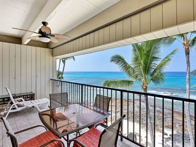 Photo for Ocean's Edge Splendor! Large Lanai, Kitchen, Washer/Dryer, WiFi–Kona Bali Kai 413