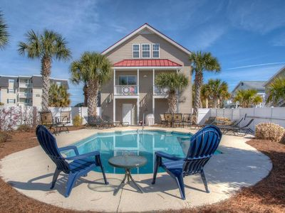 Photo for Bunkhouse, Luxury Cherry Grove Beach Home with Game Room and Pool