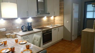Photo for Newly furnished apartment with beautiful south-facing terrace and large garden plot - incl. Wi-Fi, parking and bicycles