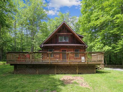 Photo for Beautiful log home recently remodeled is a nature sanctuary. Merlin's Beard!