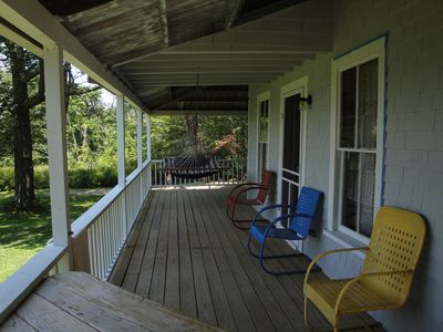 View of the front porch