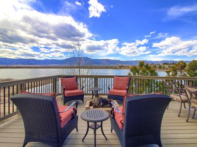 Photo for Perfect Lake and Mountain Views!