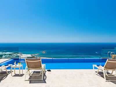 Photo for Levanda Villa, 3 BD, infinity pool with great sea views