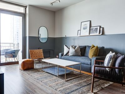 Photo for Domio | Downtown | Modern 2BR | Game Room/Arcade