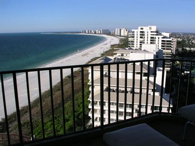 Spectacular View of Beautiful 3.5 mile Crescent Beach from Penthouse Living Room