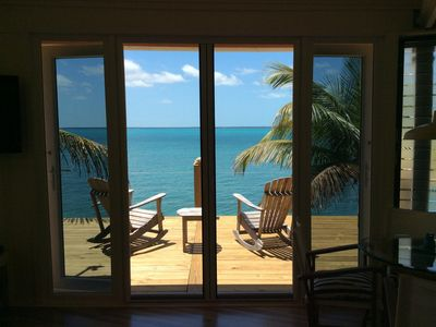 Photo for Coco Nut Tree House is nestled in Tropical Foliage on Crystal Clear Sea of Abaco