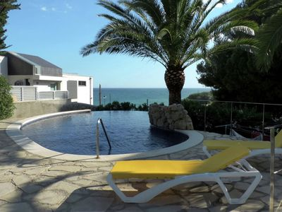 Photo for In 2014 renovated villa with sleek decor next to the sea