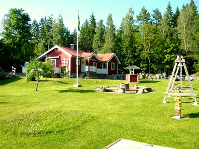 Photo for Sauna, boat, barbecue area, very child-friendly, swing, sandpit, canoe, WiFi