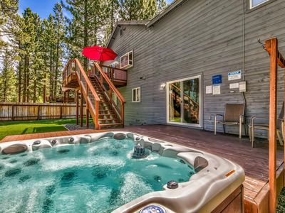 Photo for SPECIAL NEW HOME PRICE - Hot Tub, Games, Close to Skiing, Lake, Eating, Shops