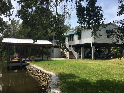 Photo for 3 bed 2 bath WATERFRONT home off the ST MARTIN'S RIVER & GULF OF MEXICO!