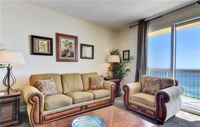 Photo for Splendid 7th Ocean Front Unit With Cozy Furnishings And Beautiful Sights Of The Gulf