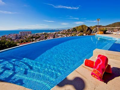 Photo for Amazing Views, Fabulous Villa, w/7 person staff & just a 10 minute walk to town